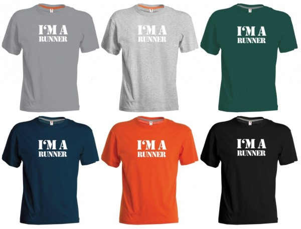 "RunningBros Sunrise T-Shirt Herren ""I'M A RUNNER"""