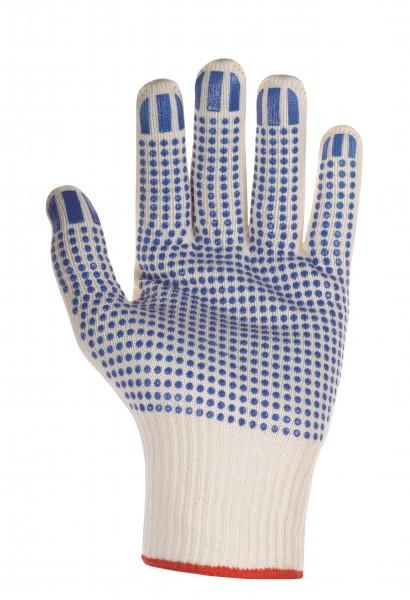 Mittelstrickhandschuhe mit blauen Noppen
