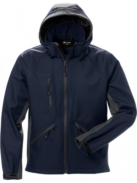 Acode Windwear Softshelljacke 124149 navy-grau front