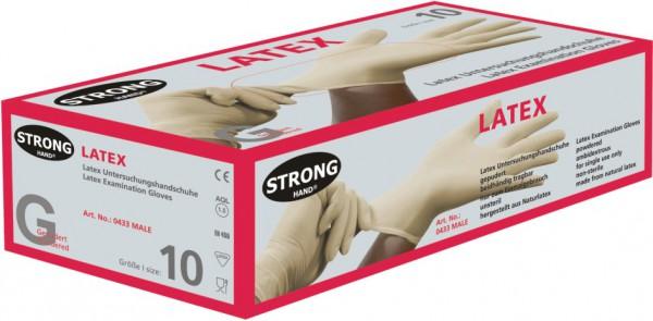 Latex-Einweghandschuhe Male gepudert