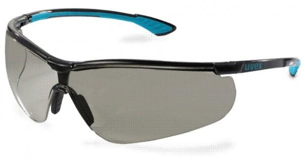 Augenschutzbrille uvex sportstyle grau supravision extreme schwarz/blau/schwarz 9193.277